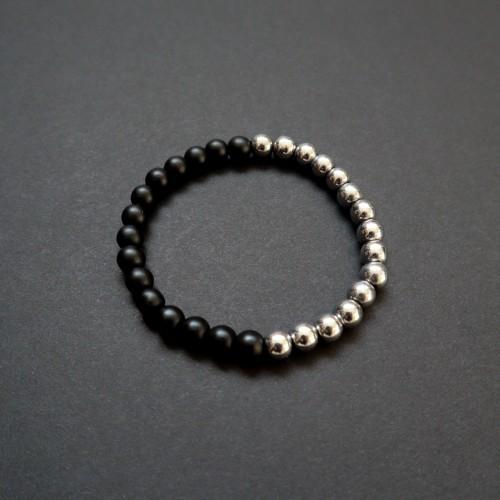 056 | Silver-tone Hematite Bracelet